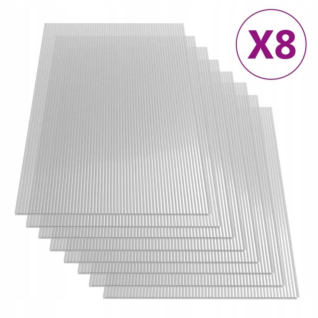 Płyta Poliwęglanowa 8 Sztuk 4 mm 121x60 cm