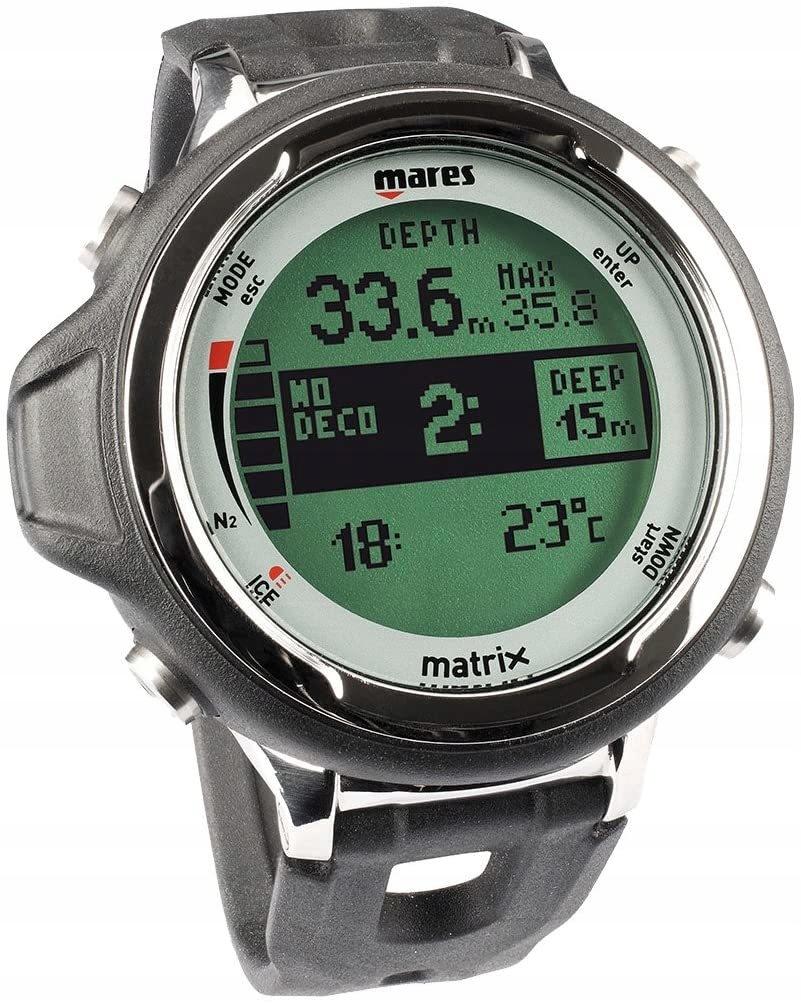 Mares Matrix 2.0 zegarek nurkowy czarny (C)