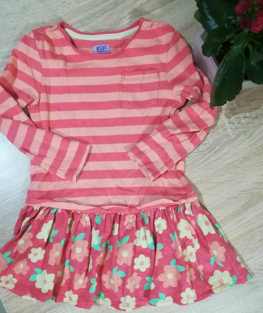 Bluzka tunika dla dziewczynki r. 2-3l