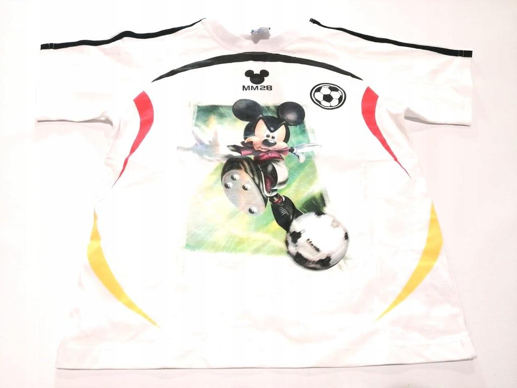 Bluzka chłopięca T-Shirt Mickey Disney Biała 128