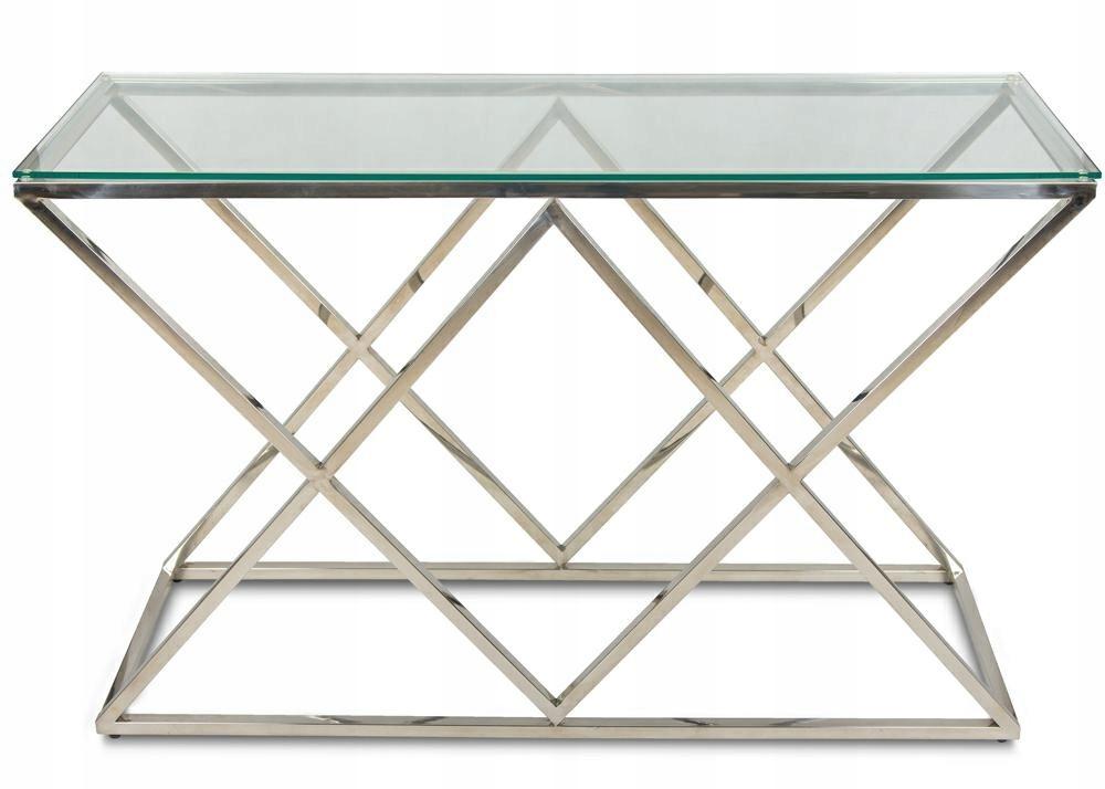 Toaletka stolik konsola Glamour hartowane szkło