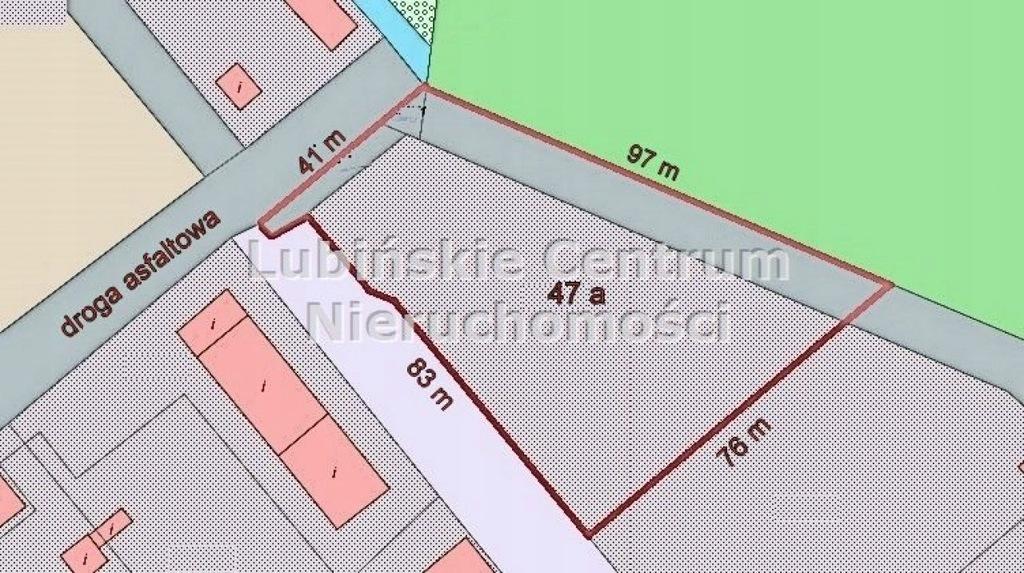 Działka na sprzedaż Lubin, lubiński, 4700,00 m²