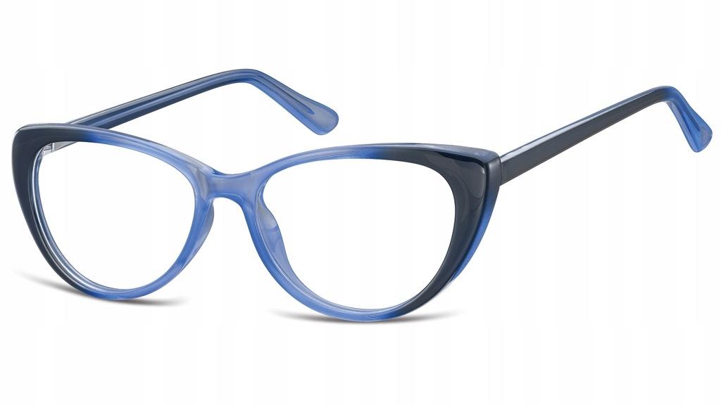 ZERÓWKI okulary OPRAWKI Kocie oko Korekcyjne FLEX