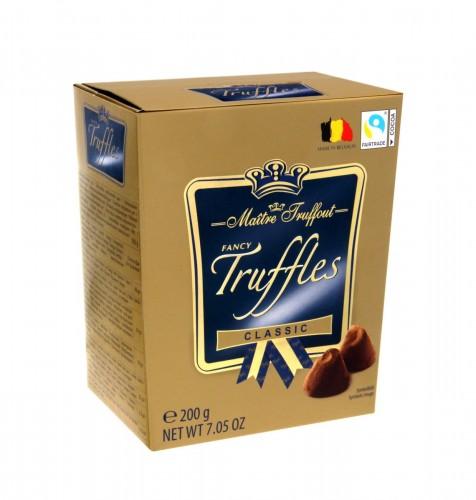 Trufle Klasyczne 200g Praliny ciemna czekolada