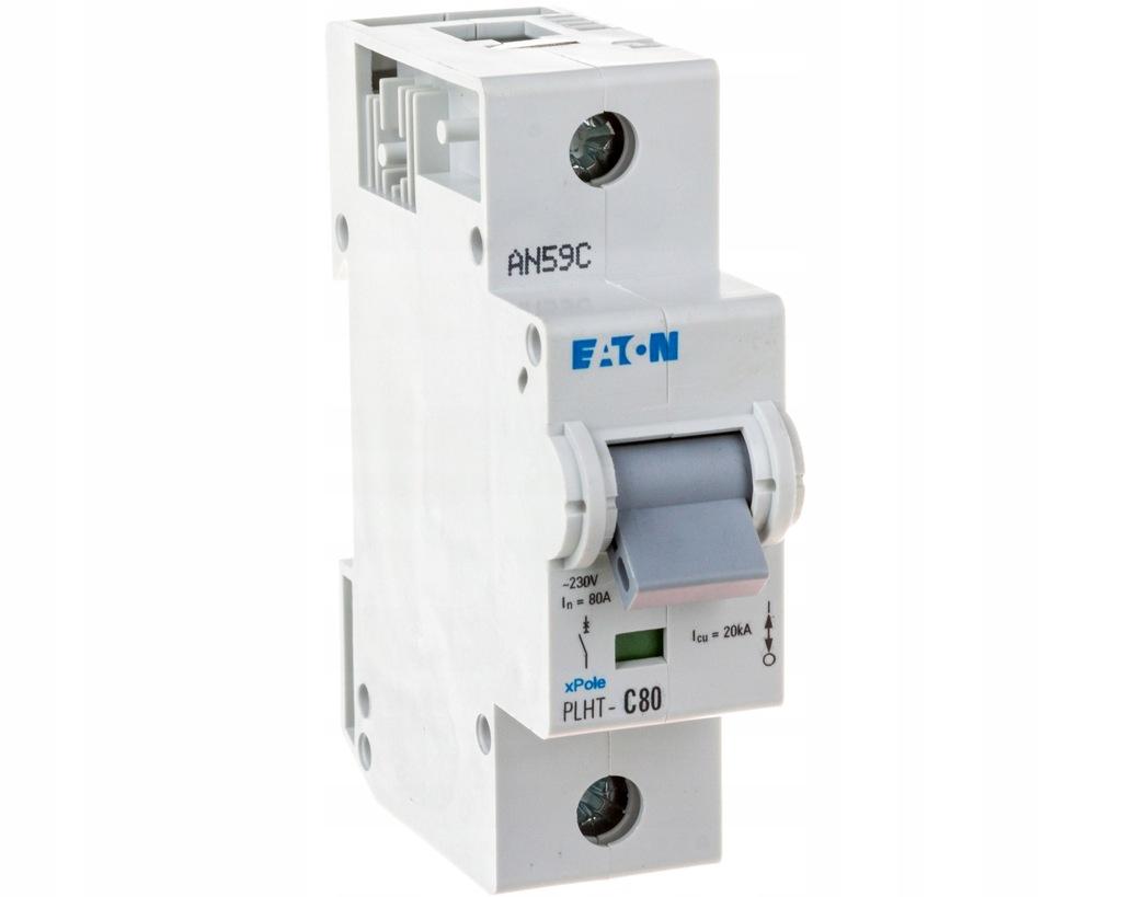Wyłącznik nadprądowy 1P C 80A 20kA AC PLHT-C80 247
