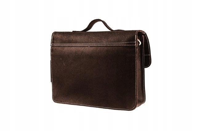 Skórzana torba na ramię teczka TC5 BLACK