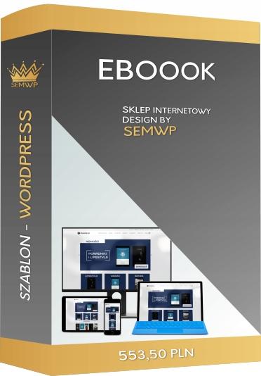 Szablon CMS WordPress Sklep Internetowy Eboook