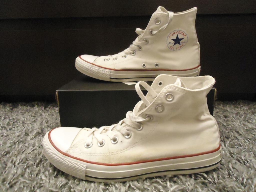 Converse białe trampki wysokie 41,5 26.5cm