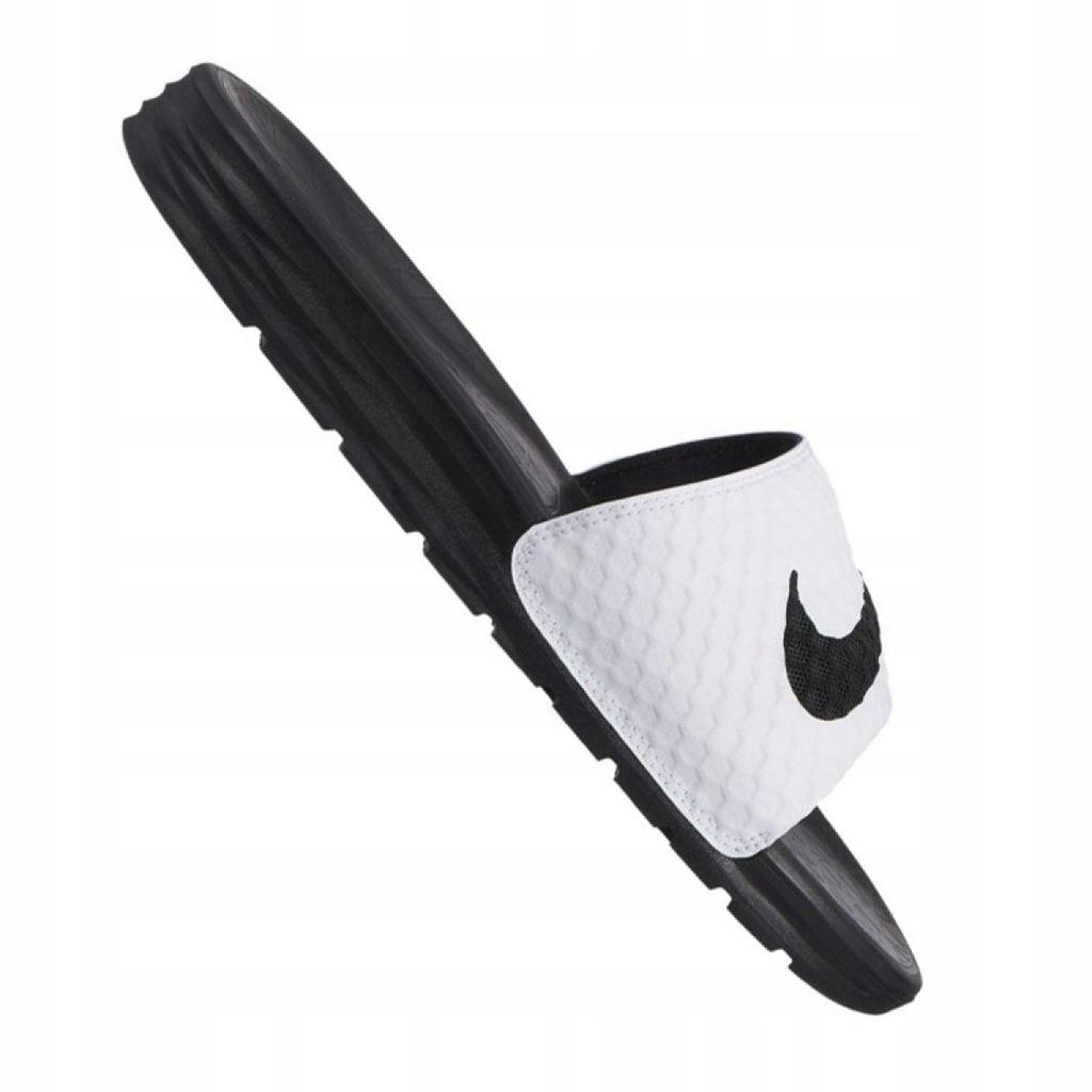 Białe Czarne Buty Męskie Klapki Nike r.42,5