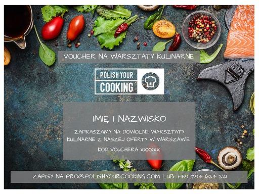 Voucher na lekcję gotowania w Polish Your Cooking