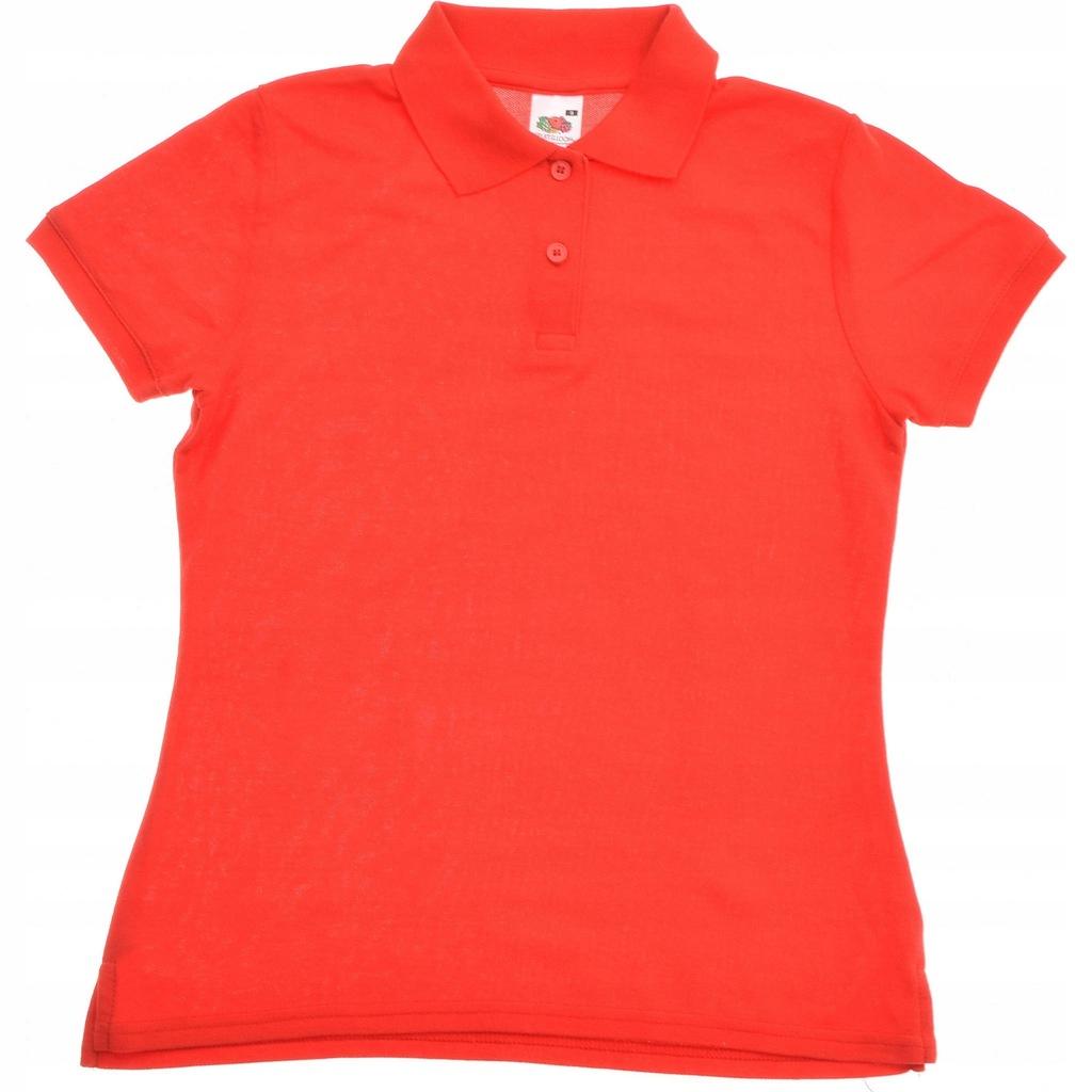 FRUIT OF THE LOOM koszulka polo damska Czerwona S