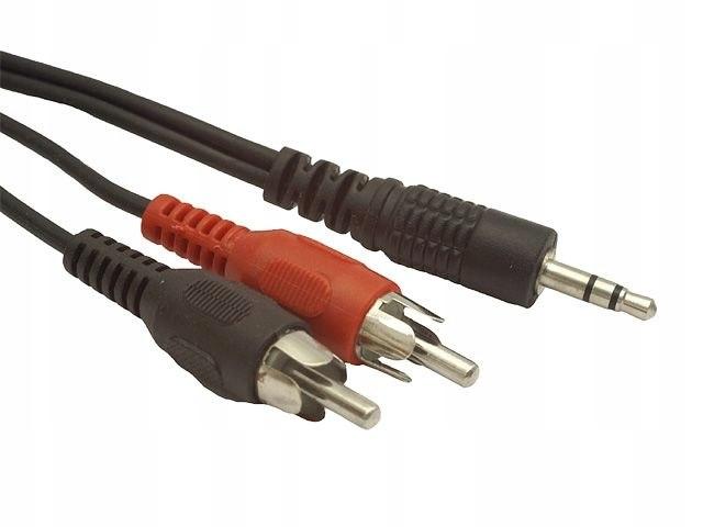 KABEL AUDIO MINIJACK 3.5MM(M) 3 PIN->2X RCA (CH