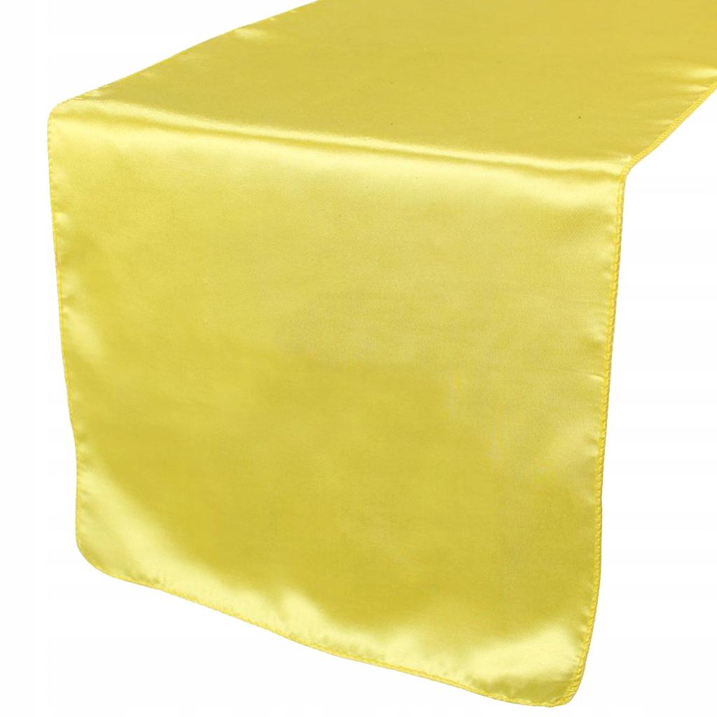Satynowy bieżnik - Żółty