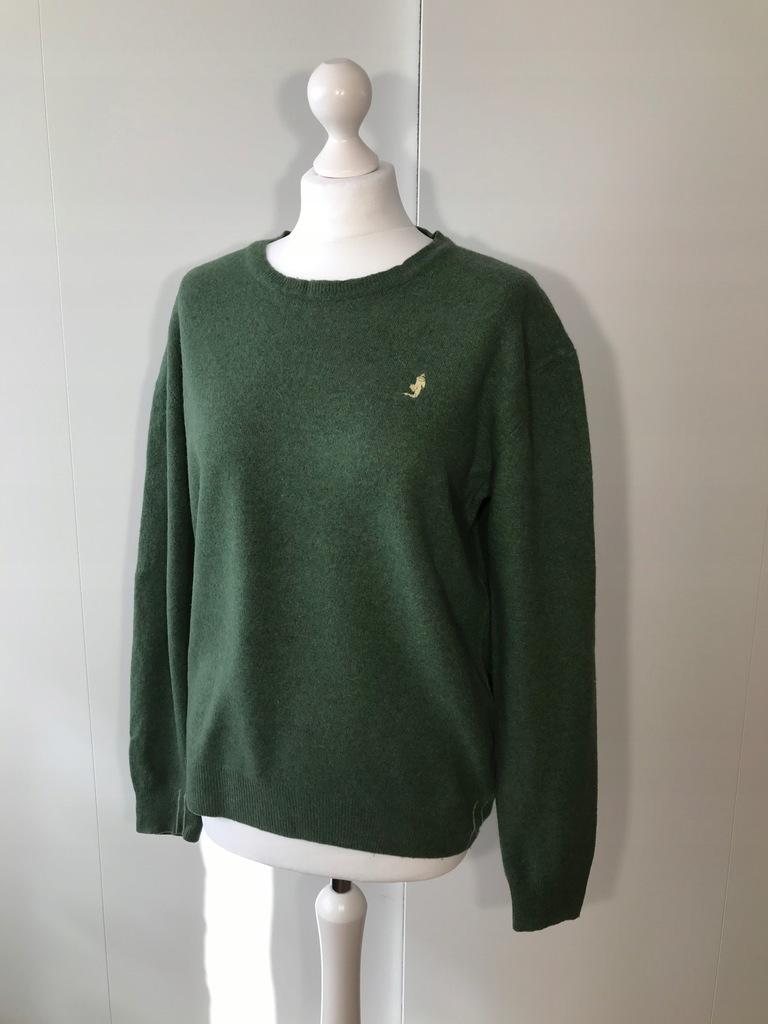 Sweter męski MCS M zielony merynos wełna