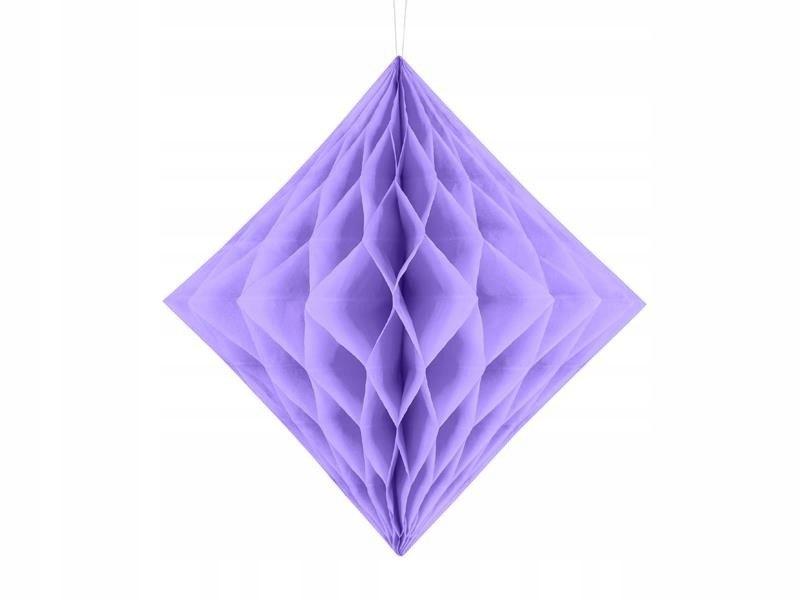 Diament bibułowy, liliowy, 30cm