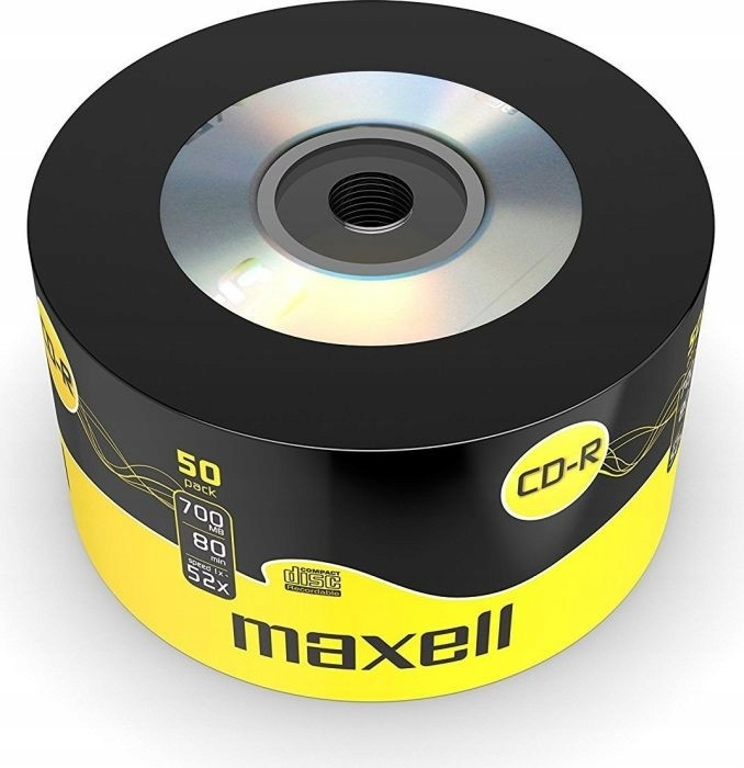 7I91 PŁYTY CD-R 50 SZT. 700 MB 80 MIN MAXELL 52x