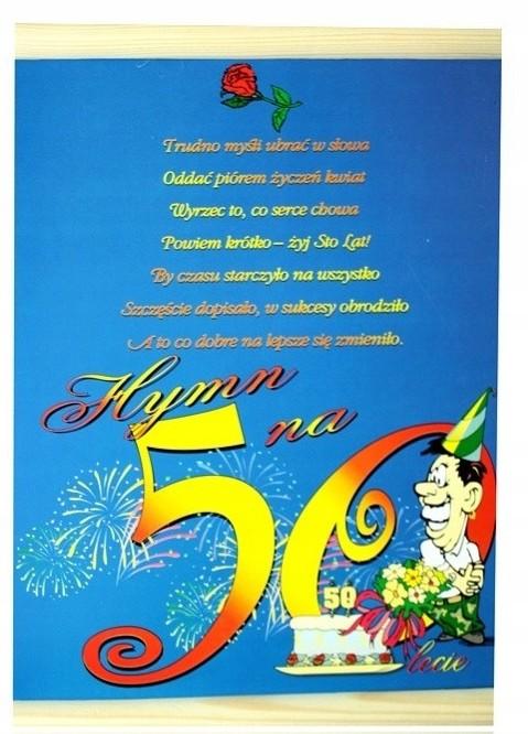 Dyplom życzenia Miły Prezent 50 Urodziny Mężczyzny