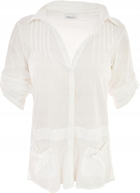 mHHH0831 C&A koszula z kieszonkami ecru_46
