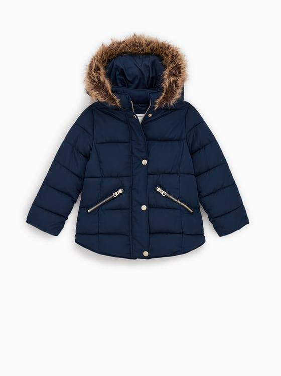 ZARA kurtka zimowa dziewczynka pikowana 134