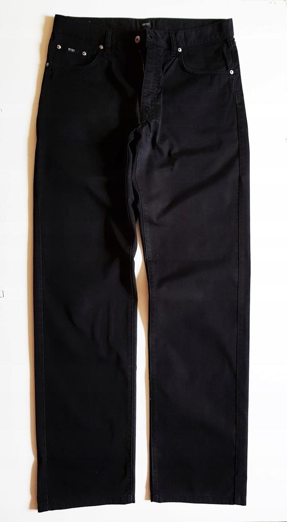 HUGO BOSS Spodnie męskie czarne 36/36 Bawełniane