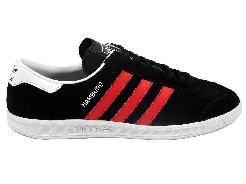 buty sneakers Adidas Hamburg BB5300, męskie, Czarne