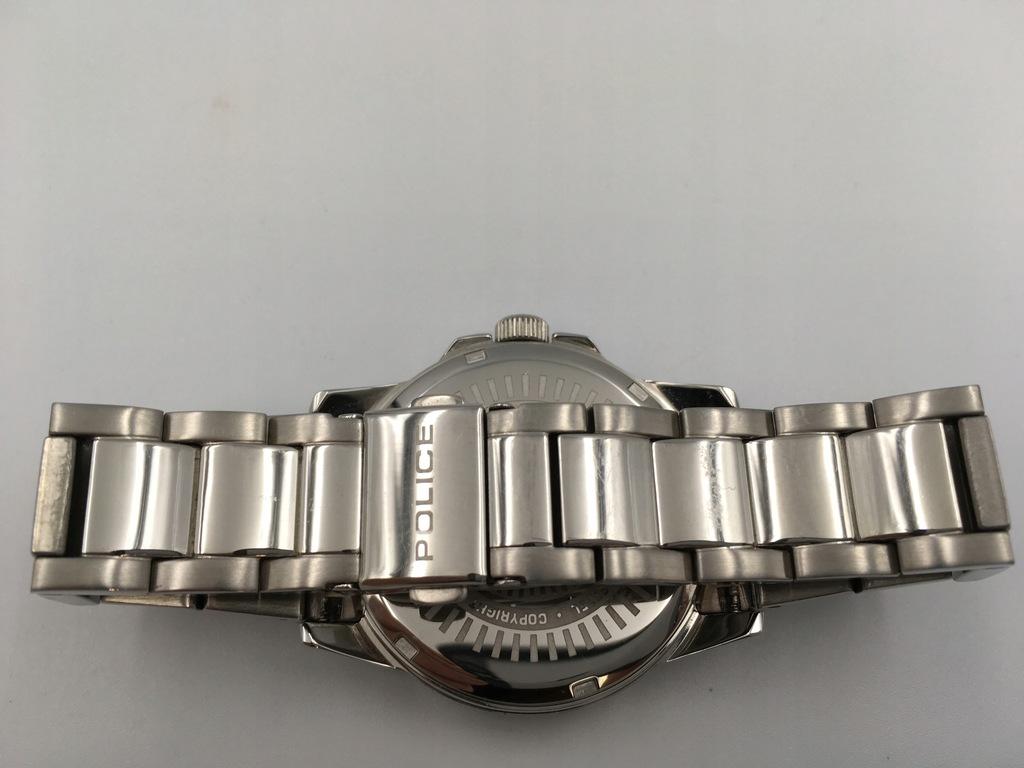 114 POLICE zegarek srebrny bransoleta damski 8645706165