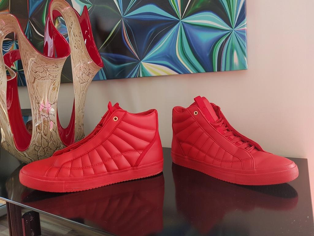 ZARA czerwone sportowe buty SNEAKERSY trampki 42