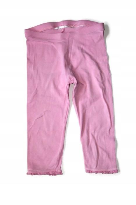 f813*H&M* Bawełna różowe legginsy 74