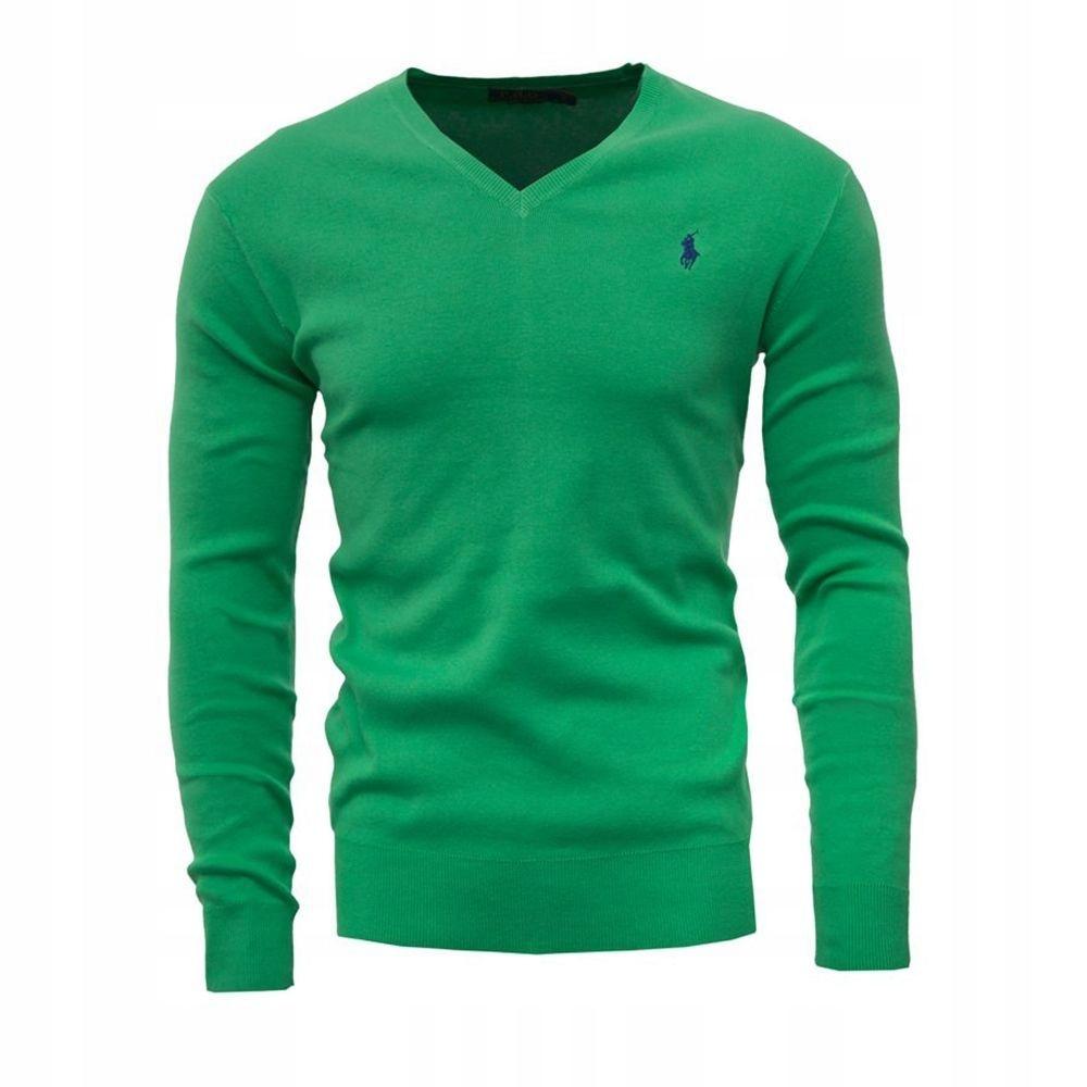 Polo Ralph Lauren Sweter Męski Slim Fit V-Neck XL