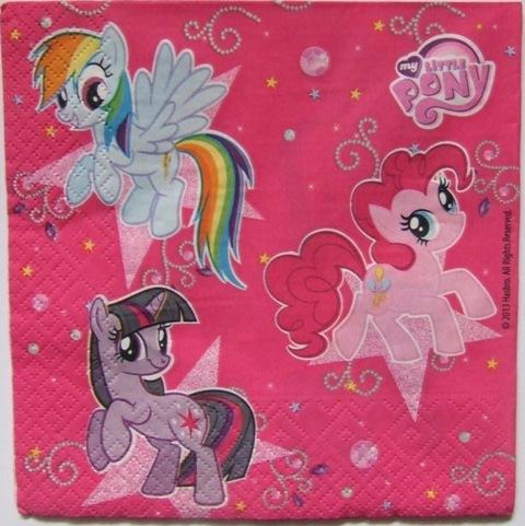 serwetki decoupage unikatowe wzory Kucyki Pony