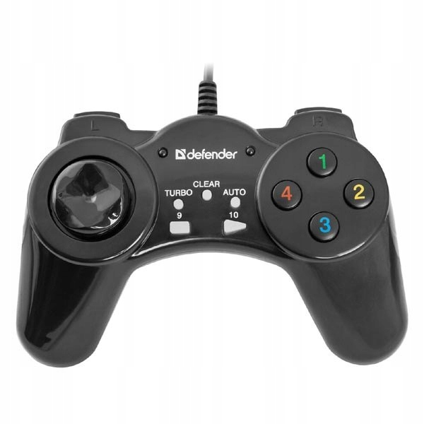 Gamepad Defender Vortex, 13przycisk, USB, czarny,