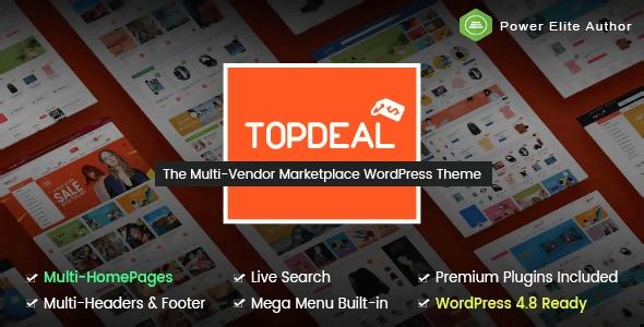 Topdeal Multipurpose Marketplace Wordpress Szablon