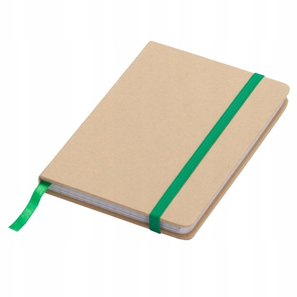Notatnik 90x140/80k kratka Lisboa Mini, zielony/be