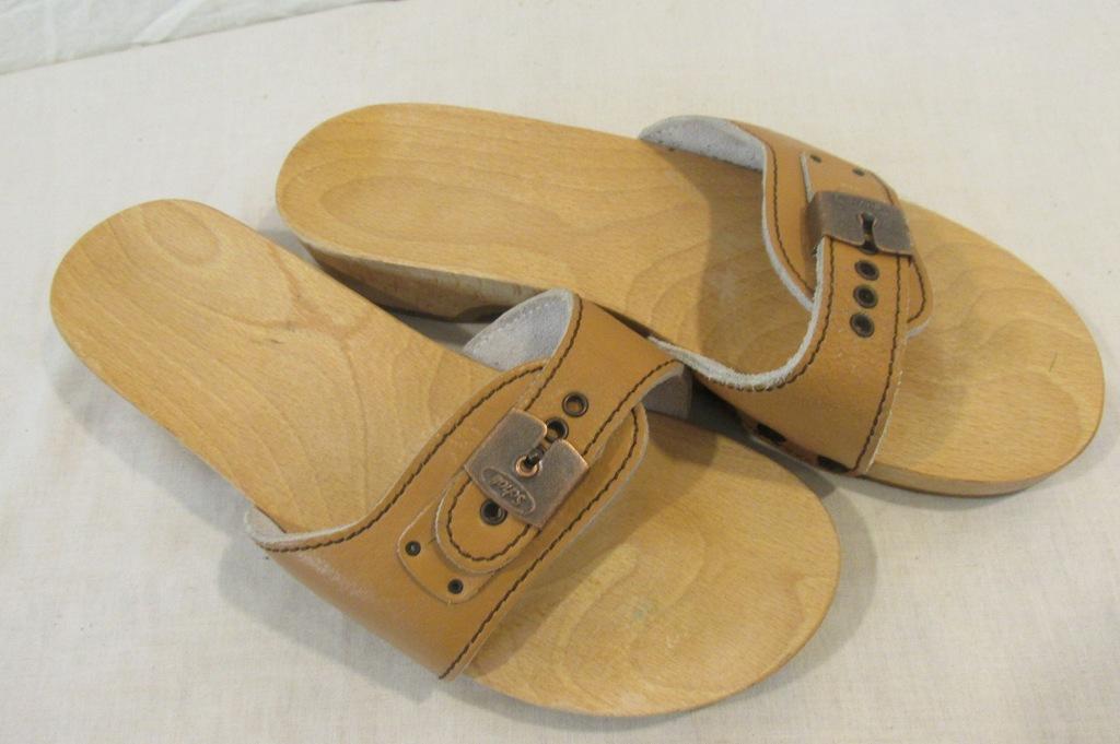 Scholl buty damskie klapki drewniaki ok 41