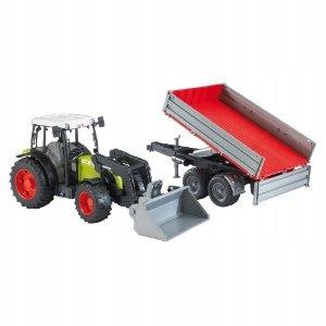 02112 Traktor Claas Nectis 267F przyczepa ładowacz