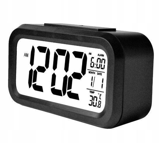 Budzik NEW LOOK zegar termometr drzemka cyfrowy sw