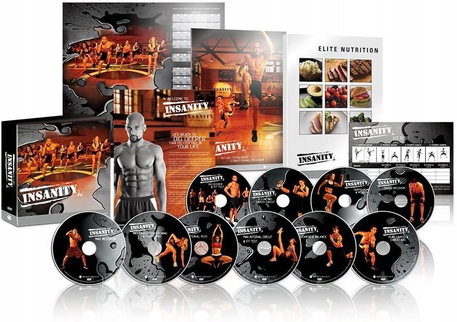 Program Beachbody Insanity Base Kit,10 DVD
