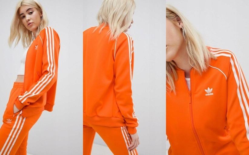 Bluza Adidas pomarańczowa XL
