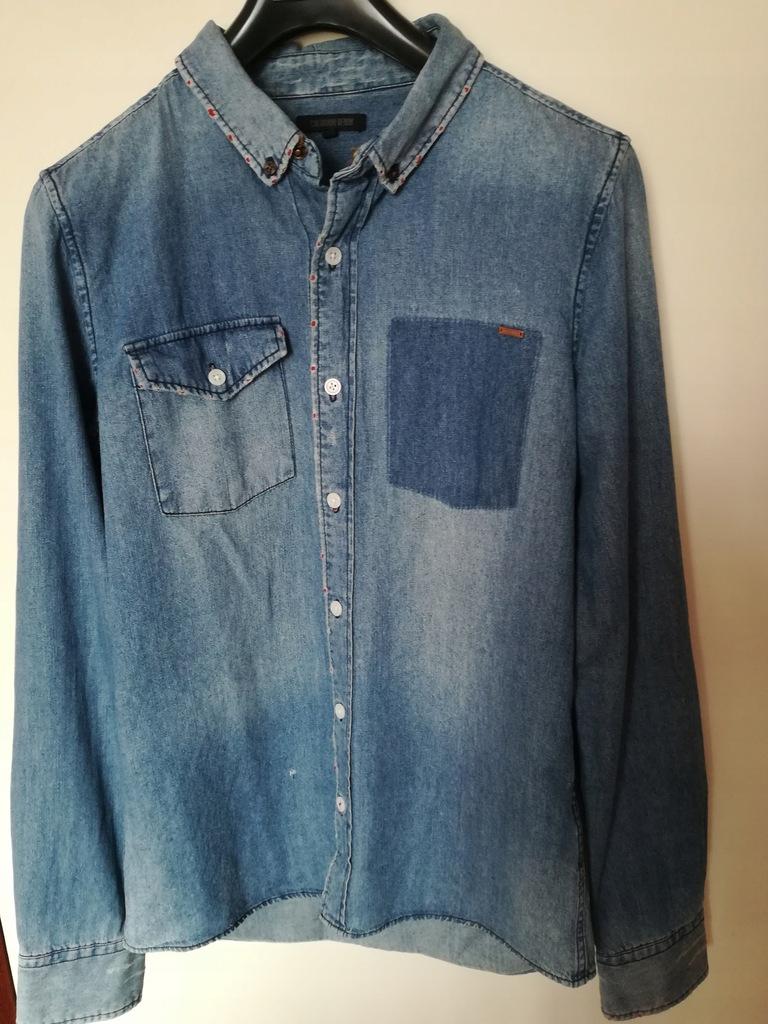 Koszula męska jeansowa M