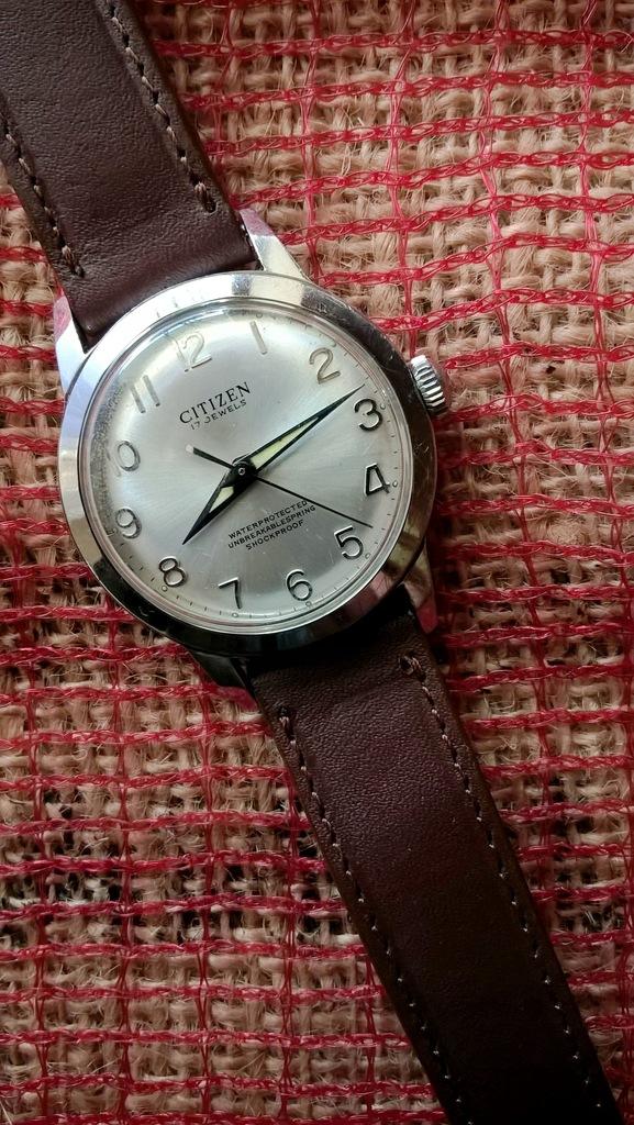 Stalowy Citizen Homer mechaniczny zegarek