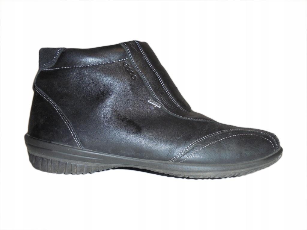 Skórzane buty firmy Ecco z Gore-tex. Rozmiar 39.