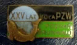 Odznaka wędkarska PZW 25 Poznań Grunwald
