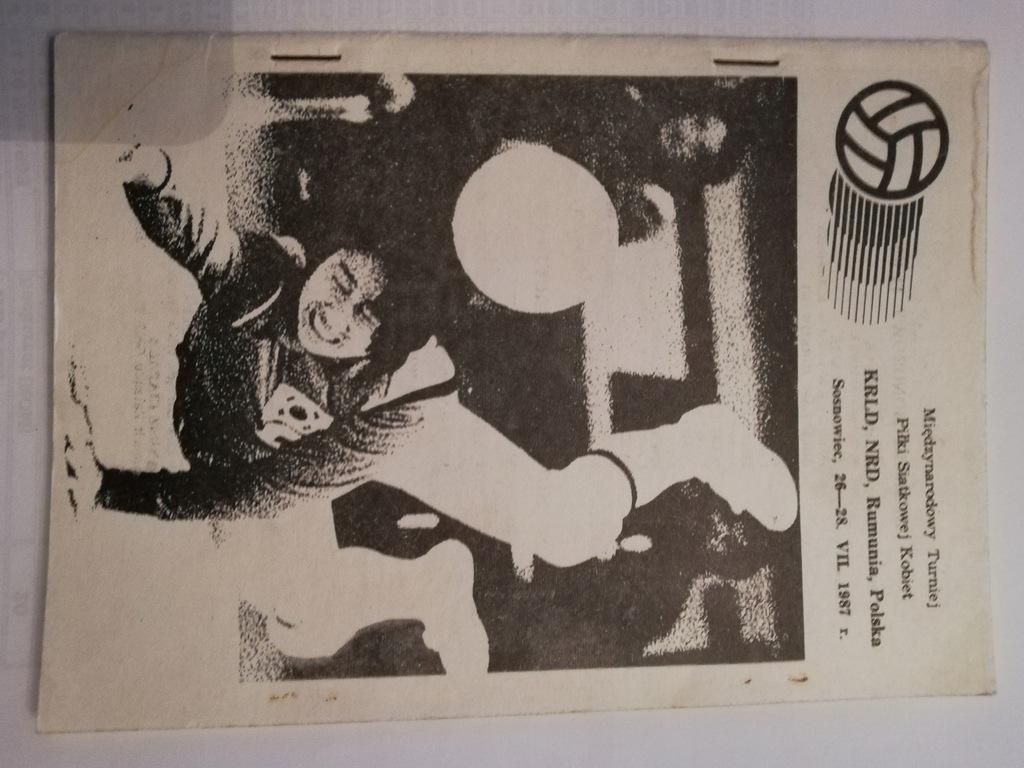 Program Turniej Siatkówka Kobiet Sosnowiec1987