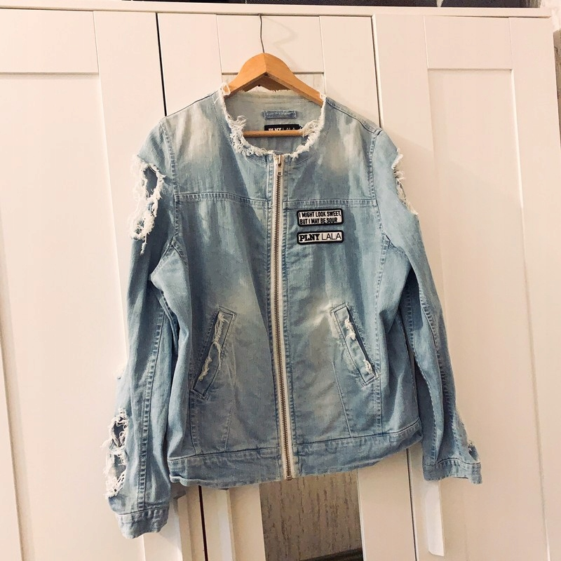 krótka kurtka jeansowa plnylala