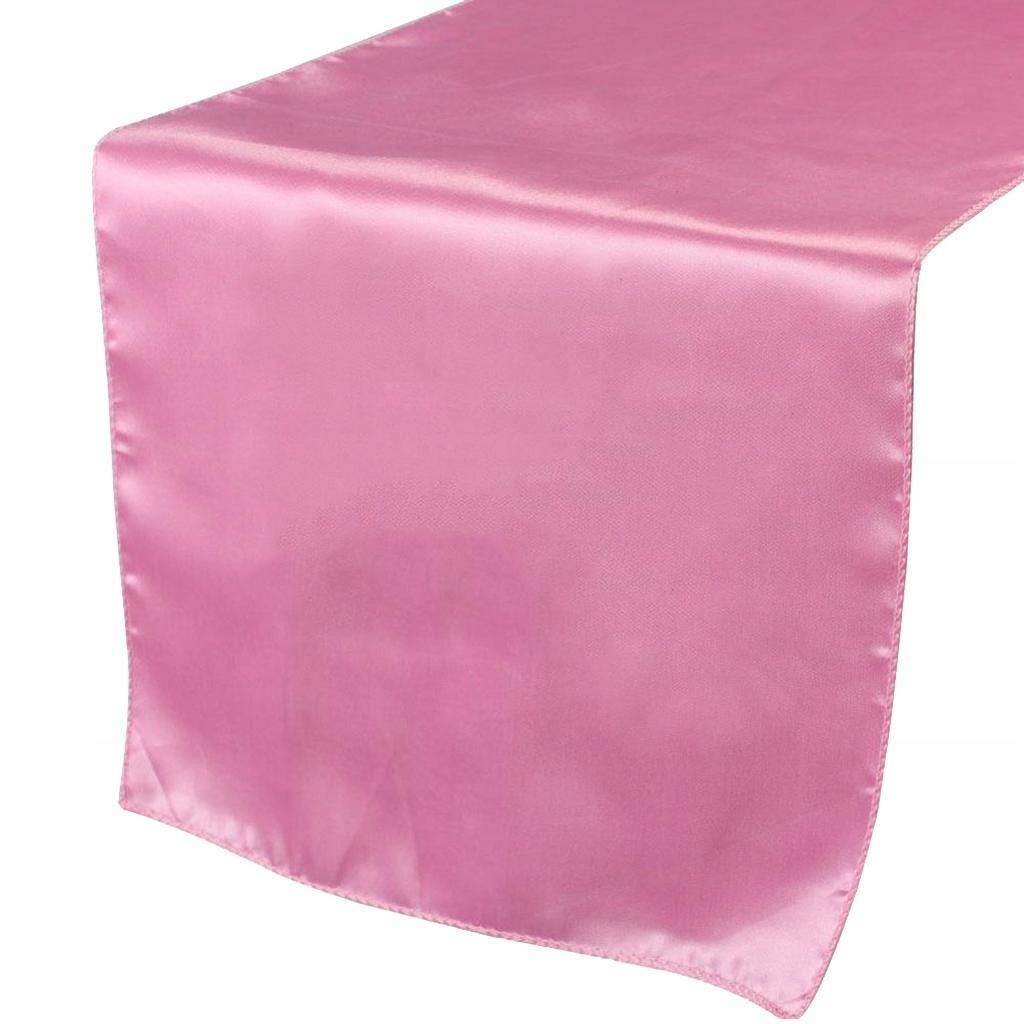 Satynowy bieżnik - Różowy