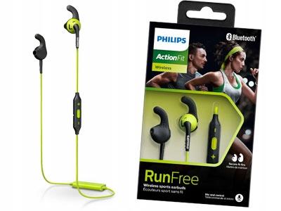 Słuchawki Philips Actionfit RunFree SHQ6500CL czarno zielony