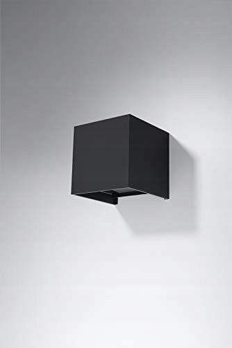 Kinkiet LUCA Czarny LED IP54 Zewnętrzna OD SOLLUX