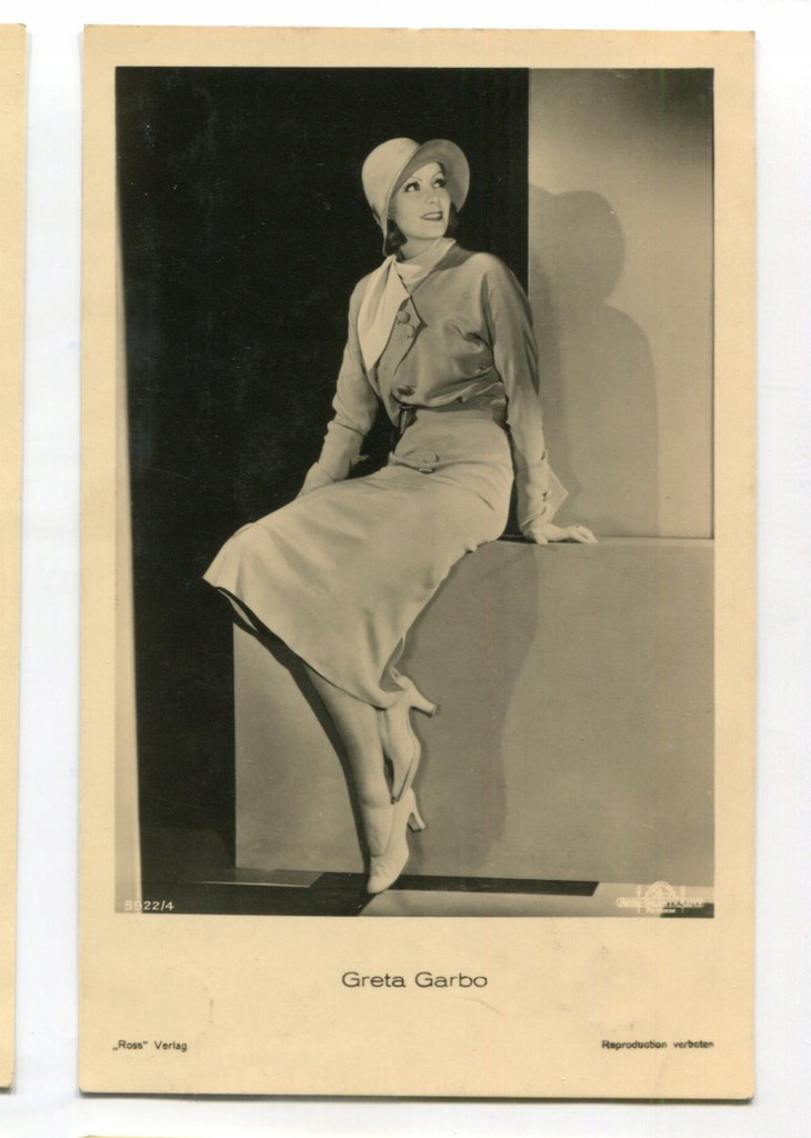 Greta Garbo Kino Film Aktorka Foto Pocztówka 41
