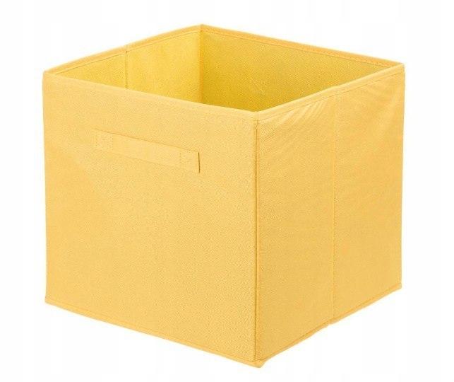 Pudełko tekstylne ANABEL 31x31x31cm żółte 28l szaf