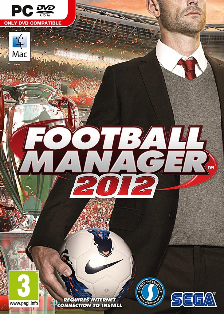 Gra sportowa DVD ROM FOOTBALL MANAGER 2012 na PC